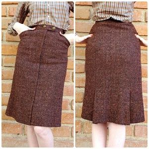 Vintage Wool Tweed Skirt